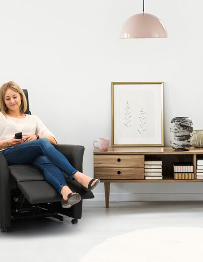 Pastel living room interior